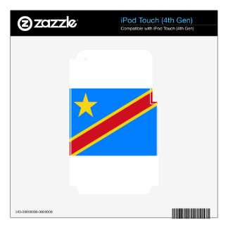 Low Cost! Congo Flag iPod Touch 4G Skin
