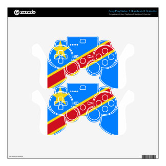 Low Cost! Congo Flag PS3 Controller Decal