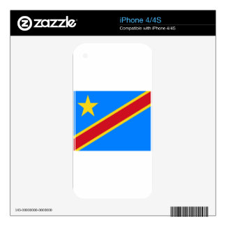 Low Cost! Congo Flag Skin For The iPhone 4S