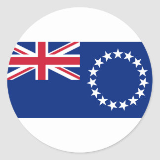 Low Cost! Cook Islands Flag Classic Round Sticker