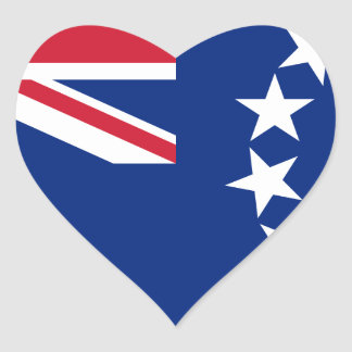 Low Cost! Cook Islands Flag Heart Sticker