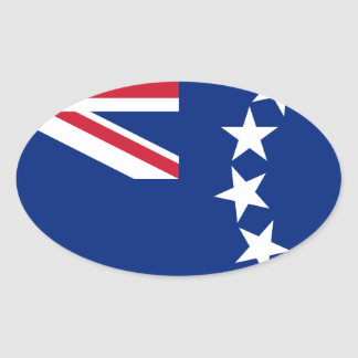 Low Cost! Cook Islands Flag Oval Sticker