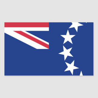 Low Cost! Cook Islands Flag Rectangular Sticker