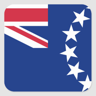 Low Cost! Cook Islands Flag Square Sticker