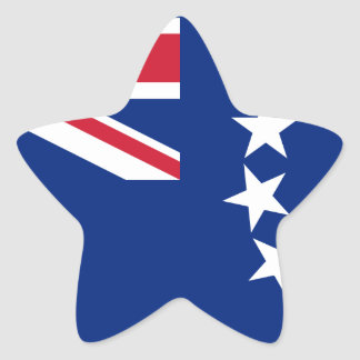 Low Cost! Cook Islands Flag Star Sticker