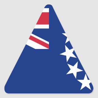 Low Cost! Cook Islands Flag Triangle Sticker