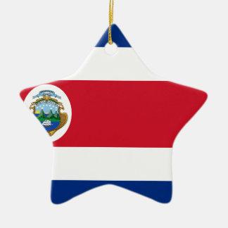 Low Cost! Costa Rica Flag Ceramic Ornament