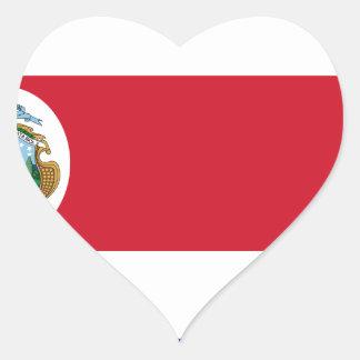 Low Cost! Costa Rica Flag Heart Sticker