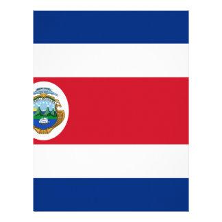 Low Cost! Costa Rica Flag Letterhead