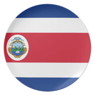 Low Cost! Costa Rica Flag Melamine Plate