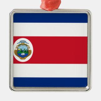 Low Cost! Costa Rica Flag Metal Ornament