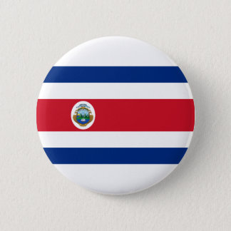Low Cost! Costa Rica Flag Pinback Button