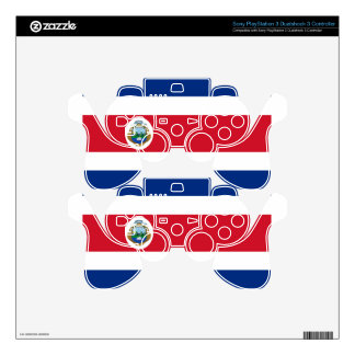 Low Cost! Costa Rica Flag PS3 Controller Skins