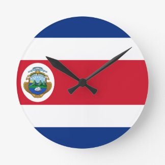 Low Cost! Costa Rica Flag Round Clock