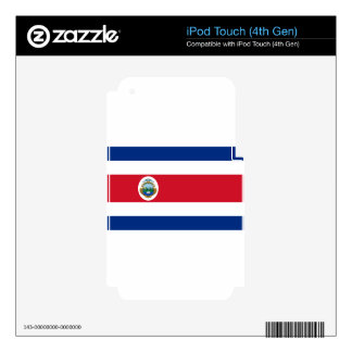 Low Cost! Costa Rica Flag Skin For iPod Touch 4G