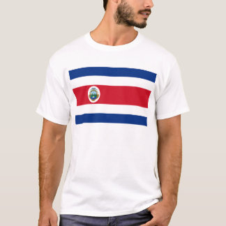 Low Cost! Costa Rica Flag T-Shirt