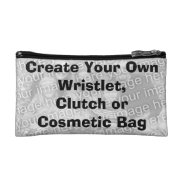 Low Cost Create A Own Cosmetic Bag Or Wristlet at Zazzle
