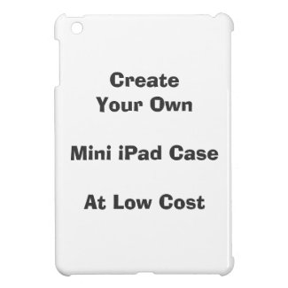 create your own iPad Mini case at low cost