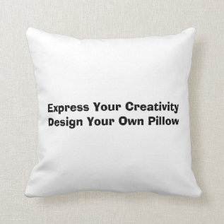 Low Cost Create Your Own Throw Pillow at Zazzle