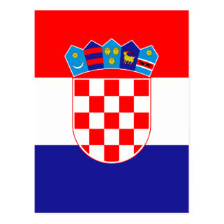 Low Cost! Croatian Flag Postcard
