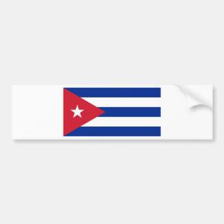 Low Cost! Cuba Flag Bumper Sticker