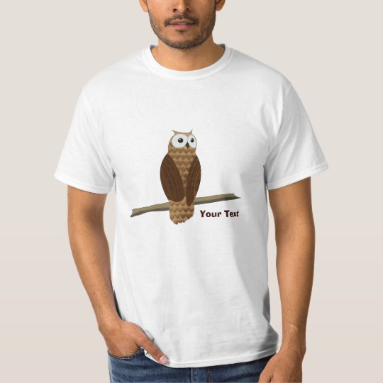 Low Cost Cute Brown Owl Value T Shirt