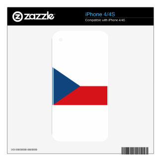 Low Cost! Czech Republic Flag iPhone 4 Decals