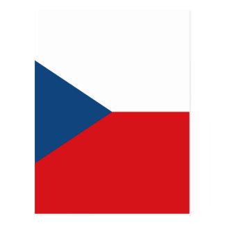 Low Cost! Czech Republic Flag Postcard