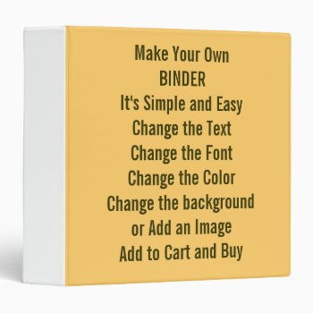 Low Cost Design And Make Your Own 1.5 Inch 3 Ring Binder by DigitalDreambuilder at Zazzle