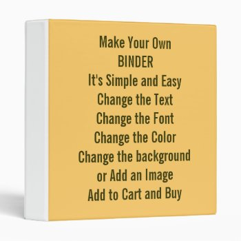 Low Cost Design And Make Your Own 1 Inch 3 Ring Binder by DigitalDreambuilder at Zazzle