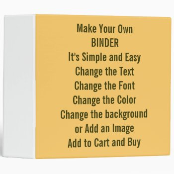Low Cost Design And Make Your Own 2 Inch Binder by DigitalDreambuilder at Zazzle