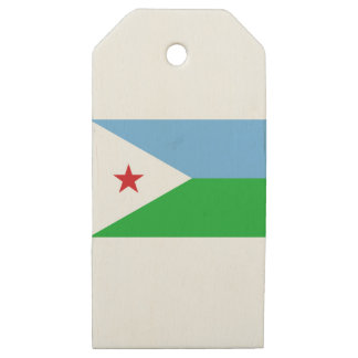 Low Cost! Djibouti Flag Wooden Gift Tags