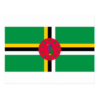 Low Cost! Dominica Flag Postcard