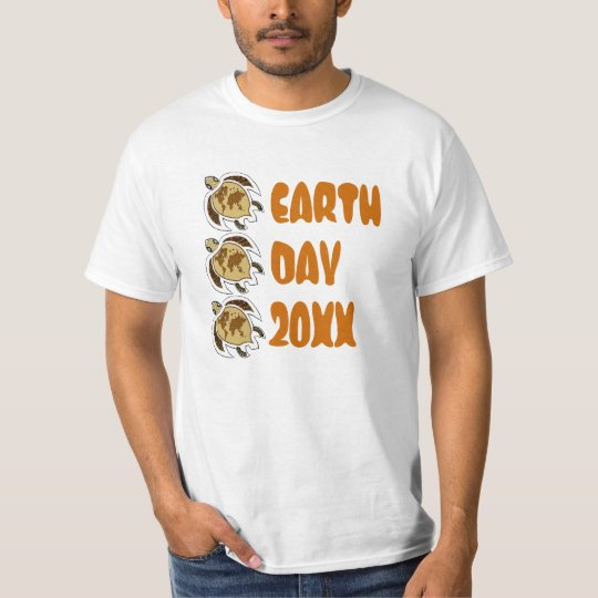 Low Cost Earth Day Turtles Map On Shell Tee