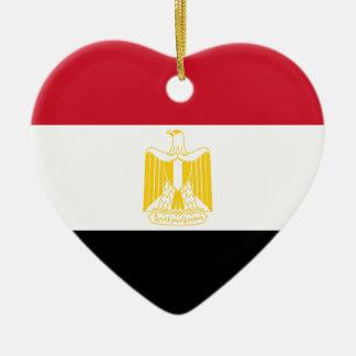 Low Cost Egypt Flag Ceramic Ornament