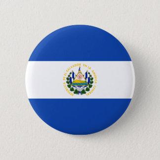 Low Cost! El Salvador Flag Pinback Button