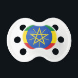 """Low Cost! Ethiopia Flag Pacifier<br><div class=""""desc"""">Classic Ethiopia  flag design available on many products in our store! Show your Ethiopia pride with these special items or buy something for that special Ethiopian in your life!</div>"""