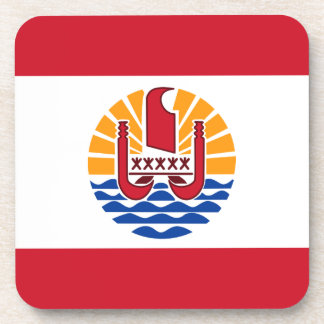 Low Cost! French Polynesia Flag Drink Coaster