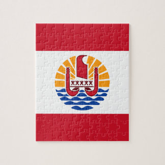 Low Cost! French Polynesia Flag Jigsaw Puzzle