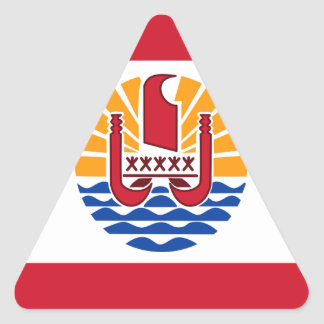 Low Cost! French Polynesia Flag Triangle Sticker