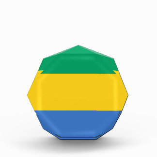 Low Cost! Gabon Flag Acrylic Award