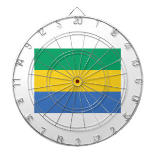 Low Cost! Gabon Flag Dartboard With Darts