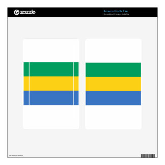 Low Cost! Gabon Flag Decal For Kindle Fire