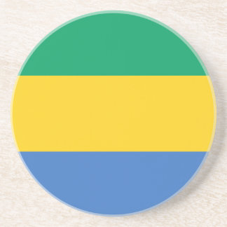 Low Cost! Gabon Flag Drink Coaster