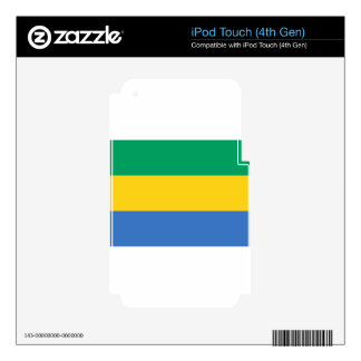 Low Cost! Gabon Flag iPod Touch 4G Decals