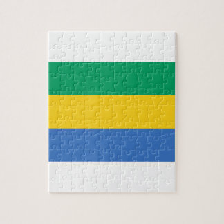 Low Cost! Gabon Flag Jigsaw Puzzle