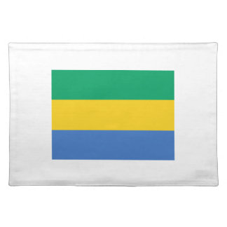 Low Cost! Gabon Flag Placemat