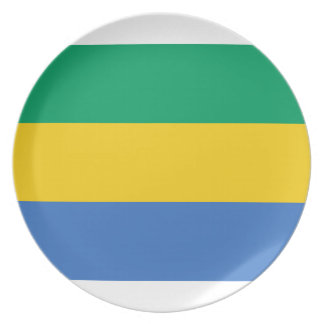 Low Cost! Gabon Flag Plate