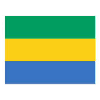 Low Cost! Gabon Flag Postcard