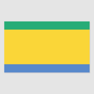 Low Cost! Gabon Flag Rectangular Sticker